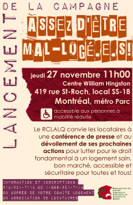 Tract_lancementMontreal_Campagne-assez-detre-mal-logeEs